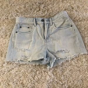 BP Light wash high waist jean shorts